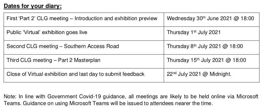 White House Farm Phase 2 Outline Consultation Timetable from Nick Billington